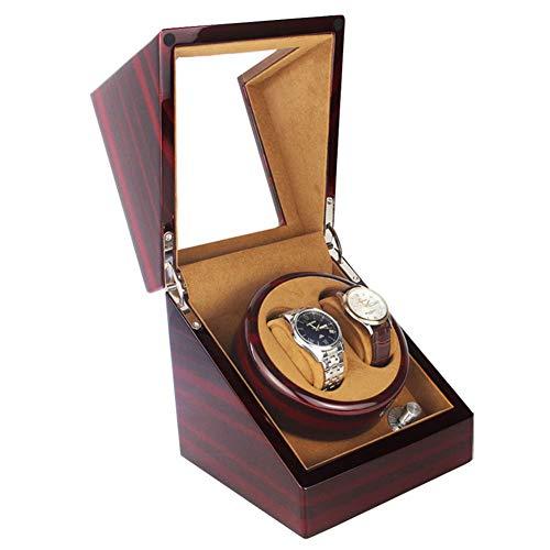 Nanayaya Storage Uhrenbeweger, Automatikuhr Rotierende Aufbewahrungsbox, 4 Arten Von Modusanzeige-Display Mechanischer Wickler Aus Holzbackhandwerk