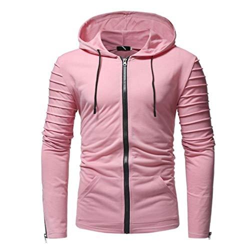 Manadlian Männer Mantel Reißverschluss Hoodie Herbst Winterjacke Jacke Beiläufig Slim Fit Pullover Outwear Herren Hoodies Bluse -