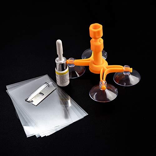 JTENG Auto Windschutzscheiben Reparatursatz Werkzeug Windshield Repair Kit Windschutzscheibenwerkzeug gegen Steinschlag und Kuhaugen, Spinnennetz, sternförmig, Kerben, Halbmond-Halbmonde