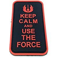 Keep Calm And Use The Force Rojo PVC Airsoft Paintball Parche