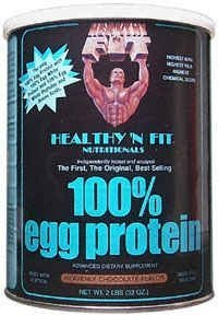 Healthy 'N Fit 100% Egg Protein - 12oz Container, Strawberry by Healthy 'N Fit