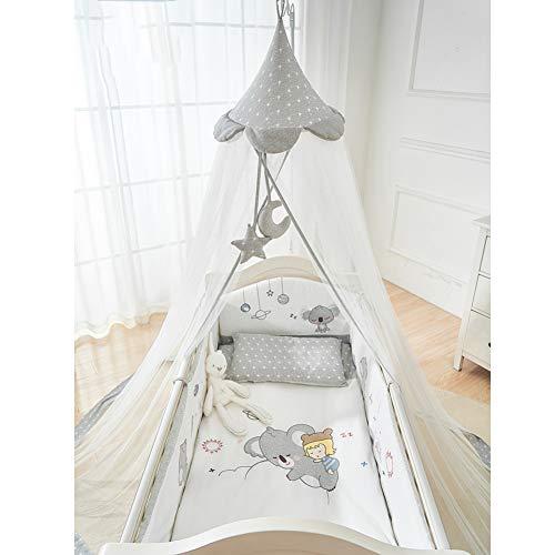 YZW Runde Bett Canopy Netting,kuppel Spitze Feuerhemmende Stoff Vorhang Moskitonetz Für Baby Krippe Kinderbett Mit Stahlhalterung-i Free Size -