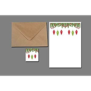 Briefpapier Set / Weihnachtskugeln No3