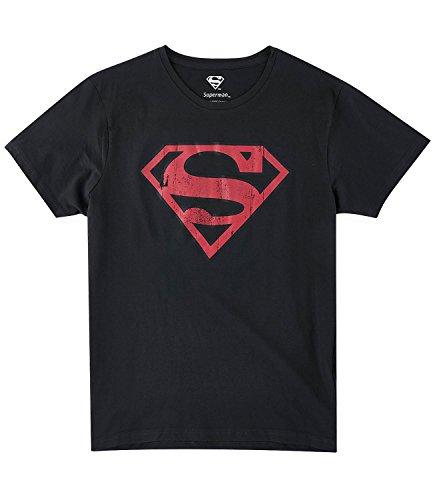 Superman Uomini Maglietta manica corta - nero Nero