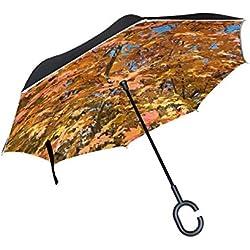 Paraguas invertido con luz de Flor Fractal