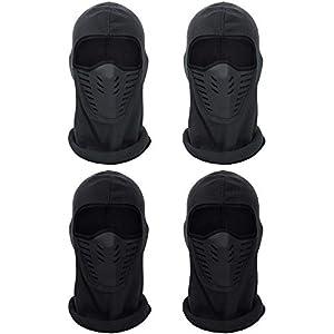 SATINIOR 4 Stücke Winter Fleece Sturmhauben Hüte Winddicht Atmungsaktiv Hüte Gesichtsmasken für Frauen Männer