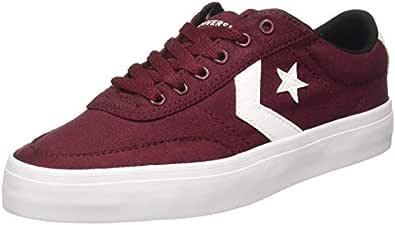 Converse Unisex's Dark Burgundy/White/Black Sneakers-6 UK/India (39 EU) (8907788082124)