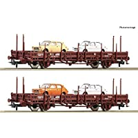 ROCO 67086 RENFE Stake Wagon Set with Fiat 127 Load (2) IV