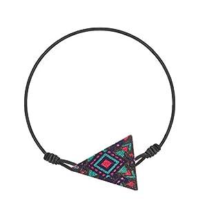 Made by Nami Fußkettchen Damen Fußkette Fusskettchen Boho Ethno Bunt Fusskette Fußband Festival Dreieck