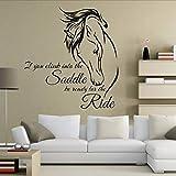Kuletieas Cavallo Adesivo Citazioni Se Sali In Sella Sii Pronto Per Il Viaggio Equine Art Soggiorno Decorazione Cavallo 57 * 61 Cm