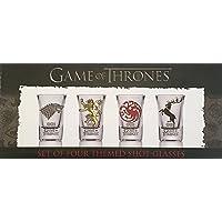 Juego de vasos de chupito GOT 10715 de Juego de Tronos con las casas Baratheon, Targaryen, Stark y Lannister