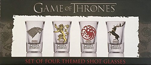 GoT 10715 ? Game Of Thrones Shooter Schnapsglas Set ? Baratheon ? Targaryen ? stark ? Lannister