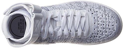 Nike Performance Damen Mid Cut Sneakers Air Force 1 Flyknit Weiß