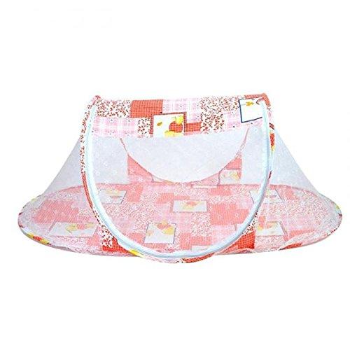 LAAT Mückennetz für KinderwagenPortable Krippen Moskitonetz Baby Reisebett Insektenschutz Portable Baby Faltbares Infant Beach Zelt mit kleinen Matratze