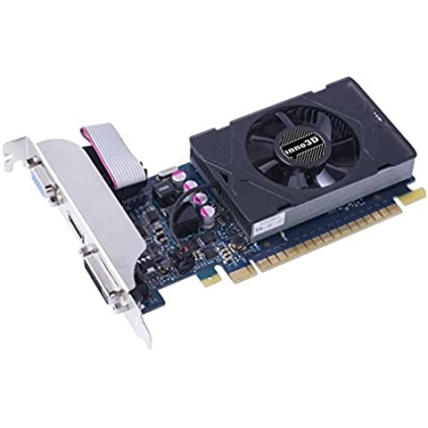 Inno3D GeForce GT 730 2GB GeForce GT 730 2GB GDDR5 - Tarjeta gráfica (NVIDIA, GeForce GT 730, 2560 x 1600 Pixeles, 3-Way SLI, 2048 x 1536 Pixeles, 2560 x 1600 Pixeles)