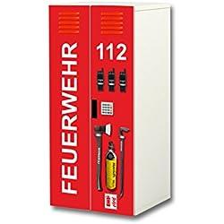 Stikkipix Feuerwehr Aufkleber-Set | SC35 | passend für den Kinderzimmer Schrank STUVA von IKEA (Korpus: 60 x 128 cm)