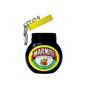 Mustard Marmite Key ring - Mini bottle shaped money jar keyring