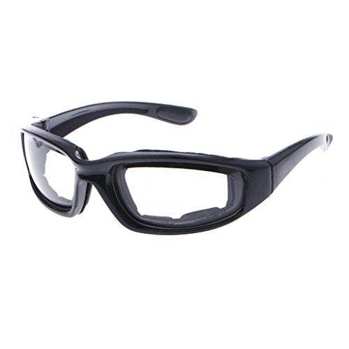 LANDUM Zwiebelbrille, reißfest, zum Schneiden von Augen, Polypropylen, Tee, 15x19 cm