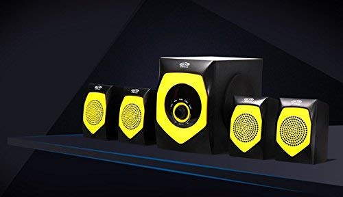 Oscar OSC-4140 BT 4.1 Channel Multimedia Home Theater System, Bluetooth Connectivity, 25W + 10W x 4 RMS, Support USB/SD/MMC+FM (Yellow, Black)