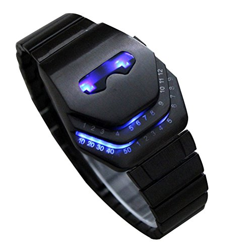 mens-stainless-steel-snake-head-blue-led-watch