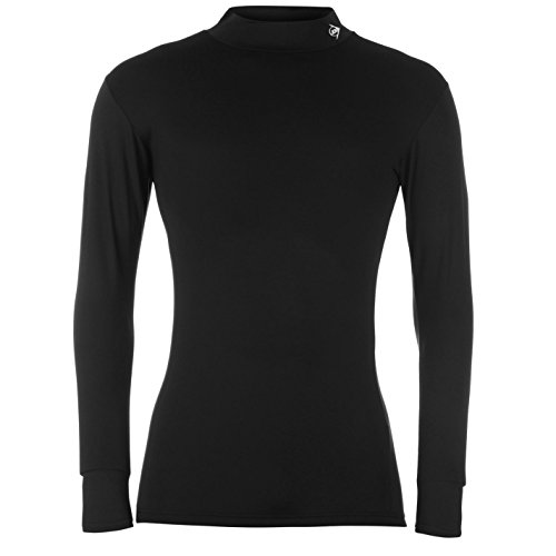 Dunlop Herren Pro Rollkragen Funktionsshirt Golf Baselayer Langarm Unterhemd Schwarz Medium (Ärmelloses Mock Top Neck)