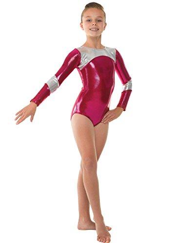 Tappers & Pointers manches GYM14 gymnastique justaucorps en lycra brilliant   Rose   9 10 jahre