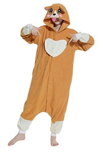 Hund Flanell-pyjama Set (Tier Pyjamas Kostüm Jumpsuit Fasching Onesie Damen Herren Karneval Cosplay Nachtwäsche Hund)