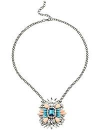 SEXYHER Exquisite Diamond & Kristallblumen-Halsketten-Pendel SHWM20131007N025