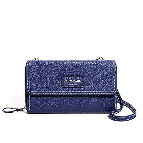 Damen Brieftasche Reißverschluss Kupplung große Kapazität Kette Tasche (18 * 10,3 cm), Königsblau