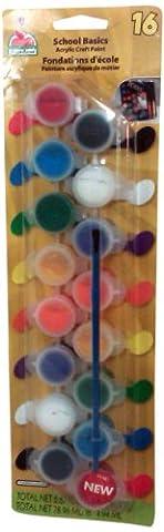 Plaid School Basics Acrylic Craft Paint 16 Colours