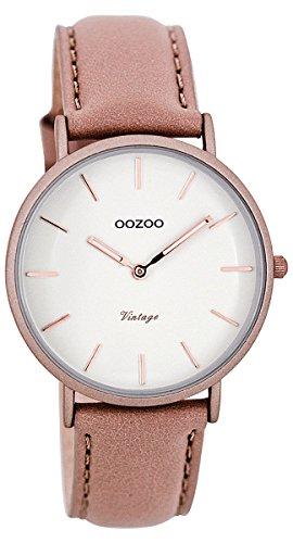 Oozoo Damenuhr Digital Quarz mit Lederarmband – C7747