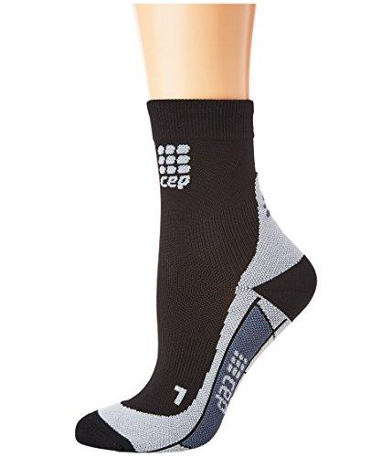 CEP - DYNAMIC+ SHORT SOCKS, Laufsocken kurz für Damen, schwarz / grau in Größe II, Sportsocken made by medi