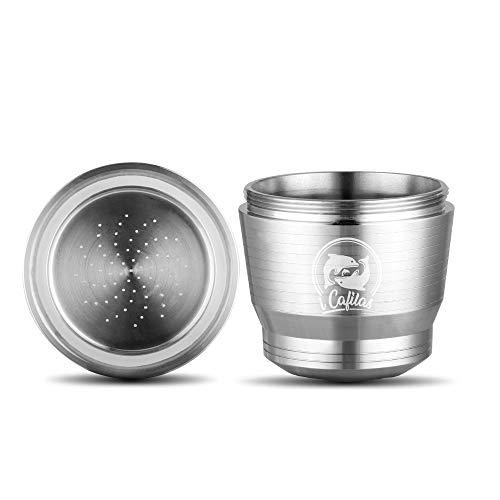 Verdelife - Capsula in acciaio INOX riutilizzabile, ricaricabile, riutilizzabile, per macchina da caffè Nespresso a U