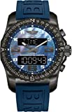 Breitling Cockpit B50 Black Titanium Men's Watch on Blue Twin Pro Rubber Strap VB501019/C932-261S