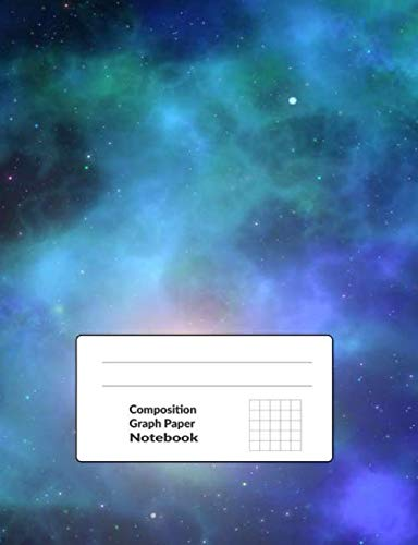 Composition Graph Paper Notebook: Galaxy 4x4 Squares Per Inch Quad Ruled Graph Journal 100 Pages Size 7.44x9.69 inches   Smog Print