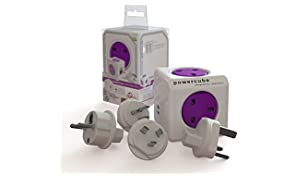Allocacoc PowerCube PowerCube Rewireable USB Power Socket plus International Travel Plugs (EU, USA, AU)