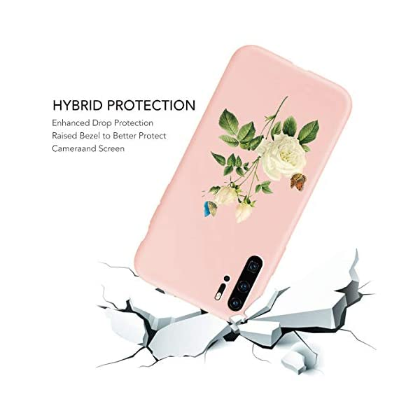 Oihxse Compatible with Huawei P20 Case Cover with Design, Soft TPU Back Shell [Anti-Slip] [Anti-Fade] [Support Wireless Charging] Slim Fit Pink Matte Texture Protective Bumper Skin-White Rsse Oihxse 🦜【Ultra-Thin & Slim Fit】Ultra-Slim design snugly fit for your Huawei P20 to bring [Sleek Look], [Stylish Charming] and [Great in-hand Feeling] due to the process with matte finish compliment with fashion pattern on the mobile phone case back-pink colour. 🦜【Support Wireless Charge】With precision cutouts of the Huawei P20, you can easy access to headphone jack, charger port, key mute, speakers, audio ports and buttons without the interference of [WiFi Reception], [Signal Reception], [Wireless Charging Performance], etc. 🦜【Anti-Fingerprint & Non-Fade Material】Crafted with soft anti-yellowing and non-fade TPU material with red frosted finish to provide you fingerprint resistant, anti-slip, daily scratches, bumps, drops and other daily damages. 5