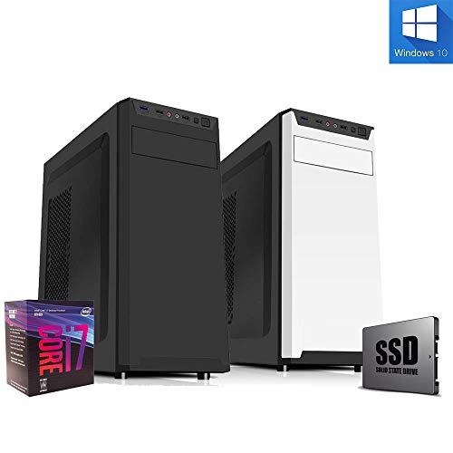 Pc desktop intel i7 8700 Cpu 4.60ghz in boost 6-core /Ssd 240gb /Ram 8gb Ddr4 /masterizzatore cd dvd Full hd /4k Windows 10 pro Pc fisso Computer fisso Pc assemblato Wi Fi 300mbps Pc Intel
