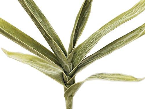 artplants – Künstlicher Yuccazweig Shirin, 7 Blätter, grün, 105 cm – wetterfest – Deko Zweig/Kunstzweig