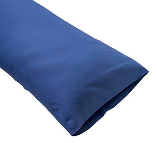 Sancarlos - Funda de almohada para cama, 100% Algodón percal, Color azul marino, Cama de 105 cm