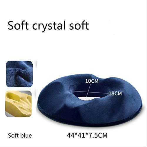 YYRZGW Memory Foam-Sitzkissen für den unteren Rücken, das Steißbein, Ischias-Steißbein-Hämorrhoiden-Schmerzlinderung und Hüftformung-Marine -