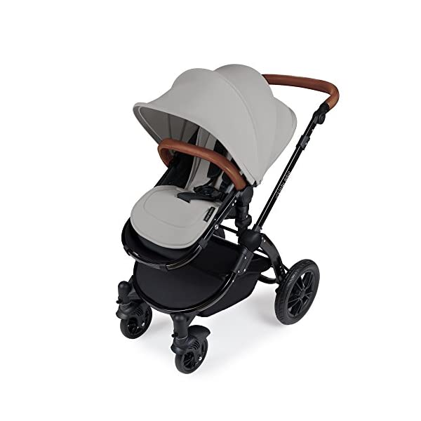 Ickle Bubba Stroller Stomp V3 iSize All-in-One iSize Baby Travel System | Car Seat w/ Isofix Base, Rear and Forward-Facing Pushchair, Carrycot | Silver on Black Frame Ickle Bubba All-IN-ONE TRAVEL SYSTEM: This stylish and attractive two tone complementary design features carrycot, reversible pushchair, and Mercury i-Size car seat. Easy-click release allows for quick transitions between car and stroller. Includes an ISOFIX Base. LIGHTWEIGHT WITH PUNCTURE FREE FOAM TIRES: : 6.5kg chassis with foam wheels allows for a smooth ride, includes an easy press and release single step foot brake locking system FORWARD AND PARENT FACING TODDLER SEAT WITH ALL WEATHER PROTECTION: Multi-position recline allows your child to lie comfortable for naps or sit upright to take in the sights. Protect from rain or shine with a collapsible weather cover. 4