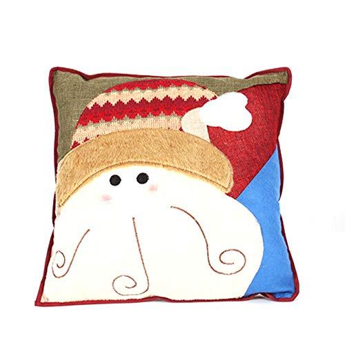 Amfirst Zierkissen Dekorative Kopfkissen PP Baumwolle Sofakissen Dekokissen Schaumstoff Gefüllt Spielzeug Weihnachtsdekorationen Santa Claus Snowman Family Christmas Pillow (B)