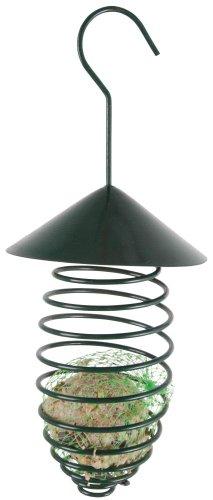 Esschert Design 5 Stück Futterfeder mit Dach aus Metall, zum Aufhängen, Gefäß für Futterbälle, Futterkugeln, ca. 24 cm hoch -