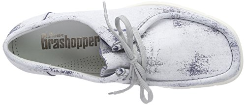 SiouxGrashopper-H-141 Velour Crepesohle - Mocassini Uomo Bianco (Weiß (marine-paint))