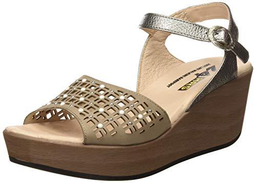 24 HORAS 24050, Sandalias con Plataforma para Mujer, Beige Cana 10, 39 EU