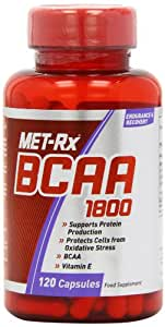 MET-Rx BCAA Muscle Growth and Strength Capsules - Tub of 120