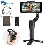 FeiyuTech Vlog Pocket 3-Asse Foldable Gimbal Stabilizzatore per Smartphone iPhone Xs Xr X Plus Samsung S9+ S9 Action Camera GoPro 7/6,Hitchcock Dolly Zoom,Monitoraggio AI,14H Runtime,Carico utile 240g