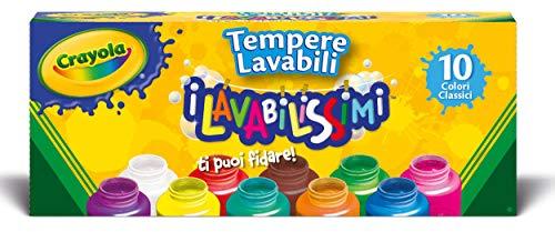 Crayola - 54-1205-e-000 - Kit De Loisirs Créatifs - 10 Pots De Peinture - Lavabl