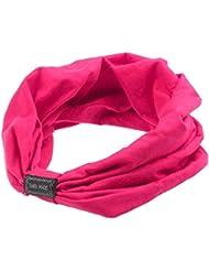 Sannysis®Mujeres elástico Deportes Headbands Turbante Headwear (Rosas fuertes)